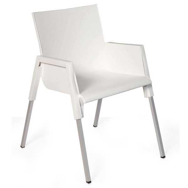 Cadeira Fixa Funchal Branco 1 UN Xplast