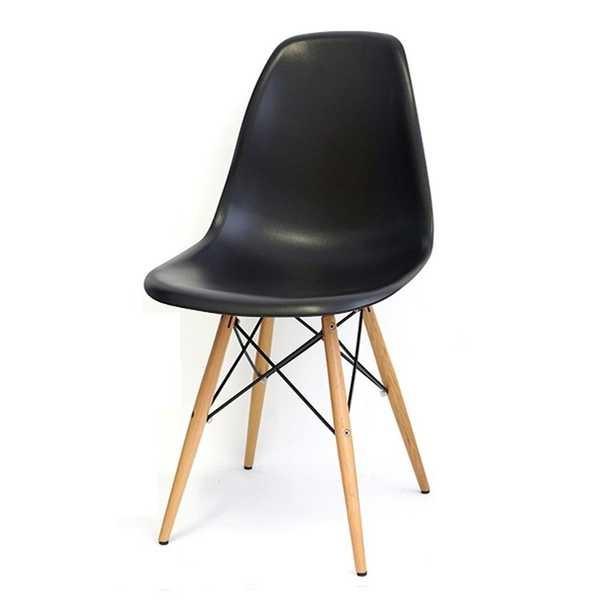 Cadeira Eames em Polipropileno Base Madeira Preta OR Design