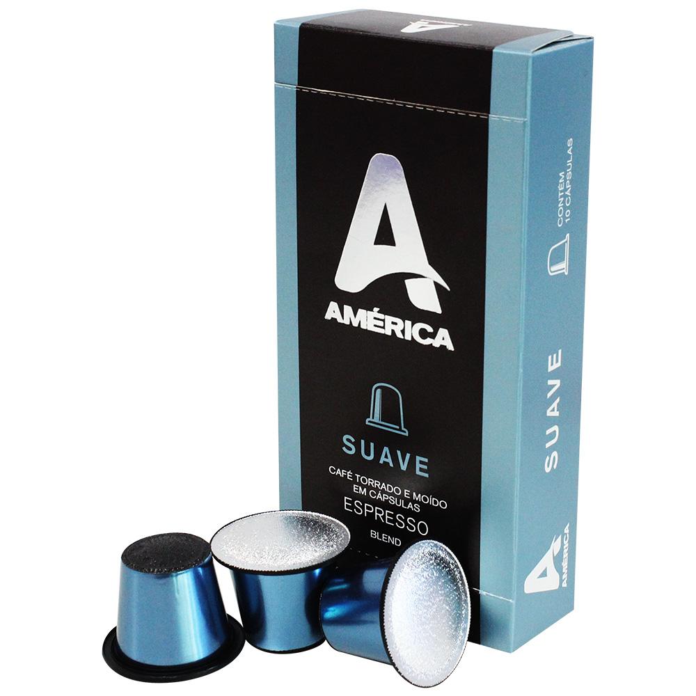 Cápsula de Café Espresso Suave CX 10 UN América