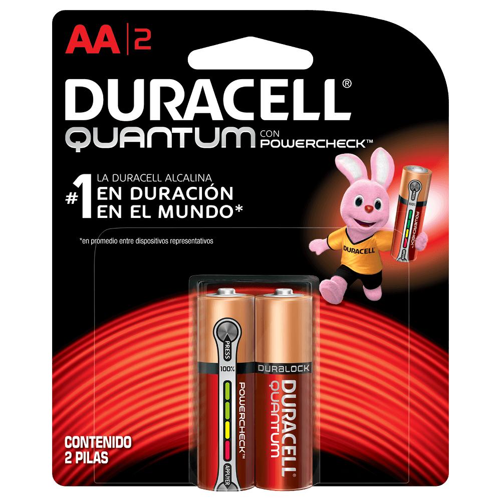 Pilha Alcalina Pequena AA Quantum Advanced 2 UN Duracell