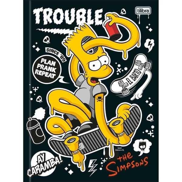 Caderno Brochurão Capa Dura Universitário 96 FL Os Simpsons A 1 UN Tilibra