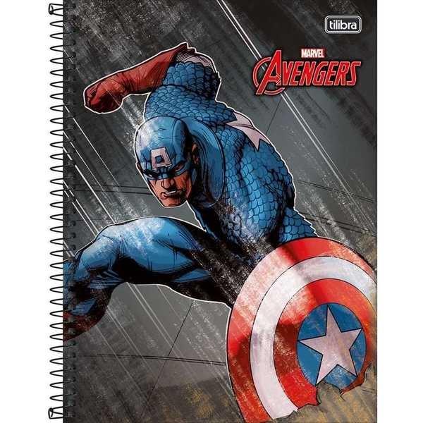 Caderno Universitário Capa Dura 96 FL Avengers B 1 UN Tilibra