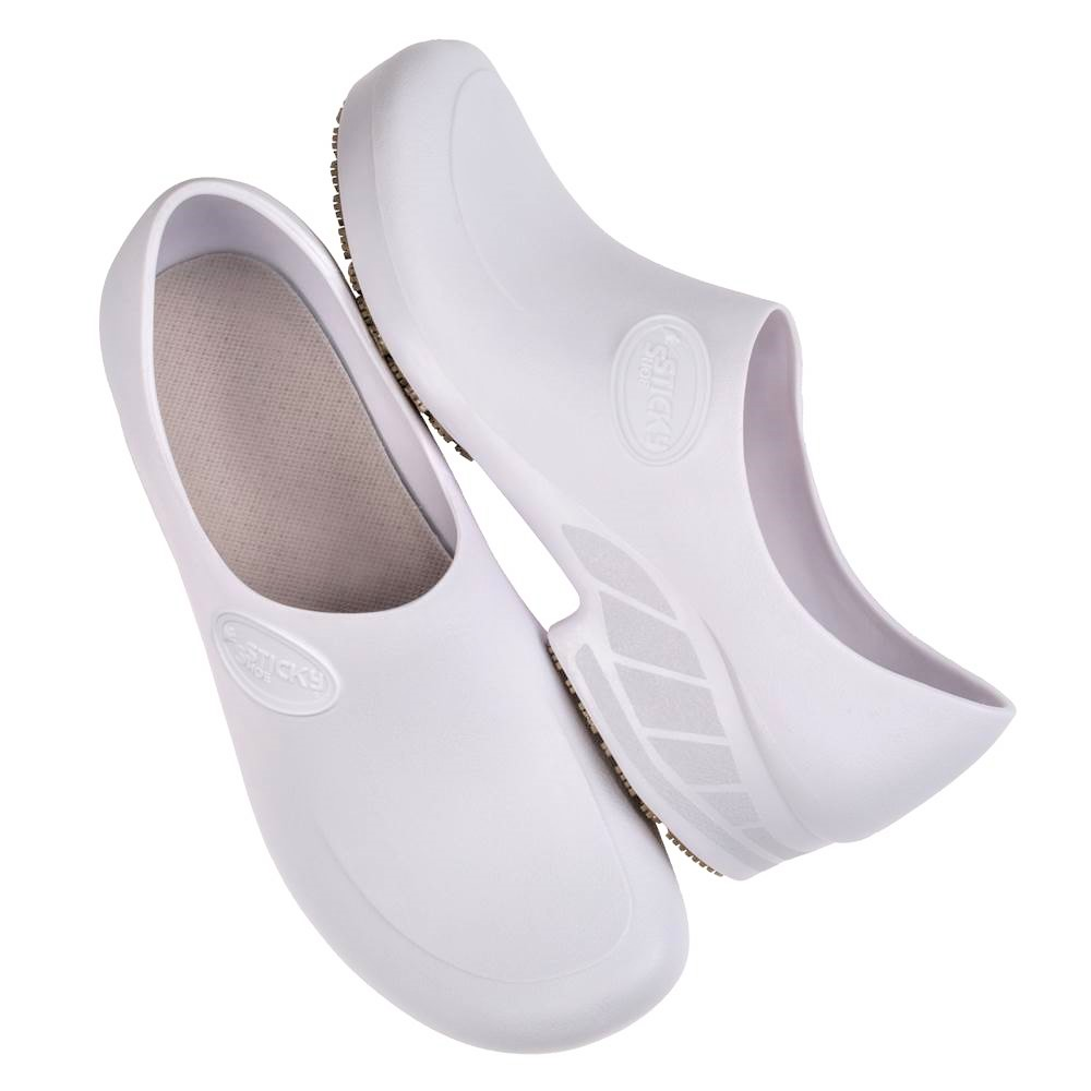Sapato Antiderrapante Branco n° 40 1 Par Sticky Shoes