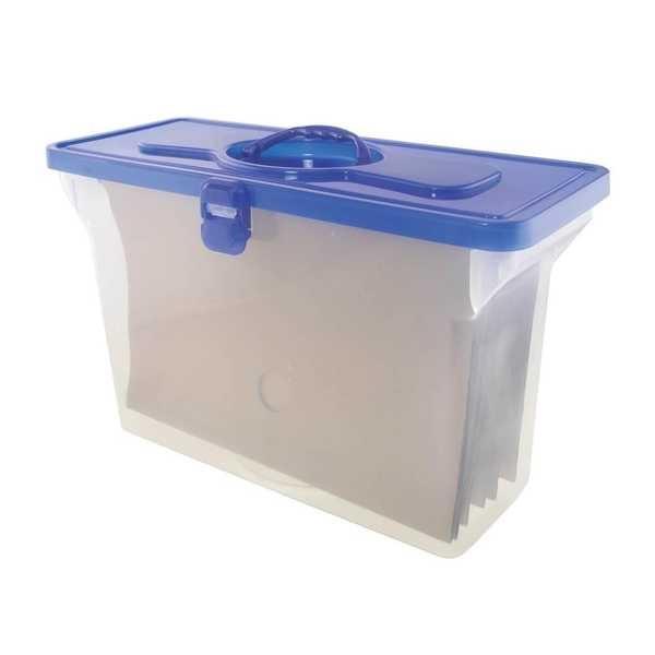 Maleta Arquivo Empilhável Azul com 6 Pastas Kraft 1 UN Dello