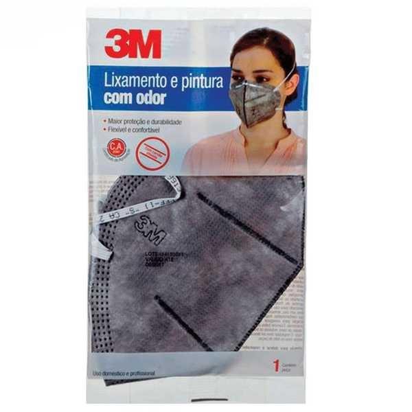 Máscara Descartável para Lixamento e Pintura com Odor Cinza 1 UN 3M