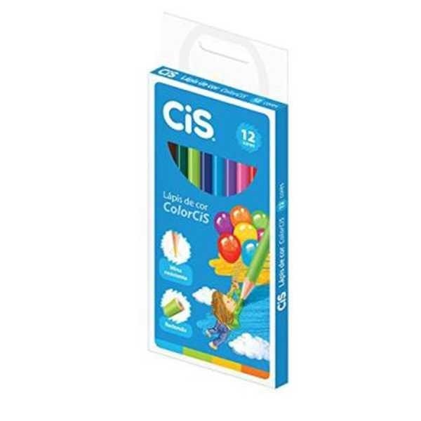Lápis de Cor Redondo Colorcis 12 Cores Cis