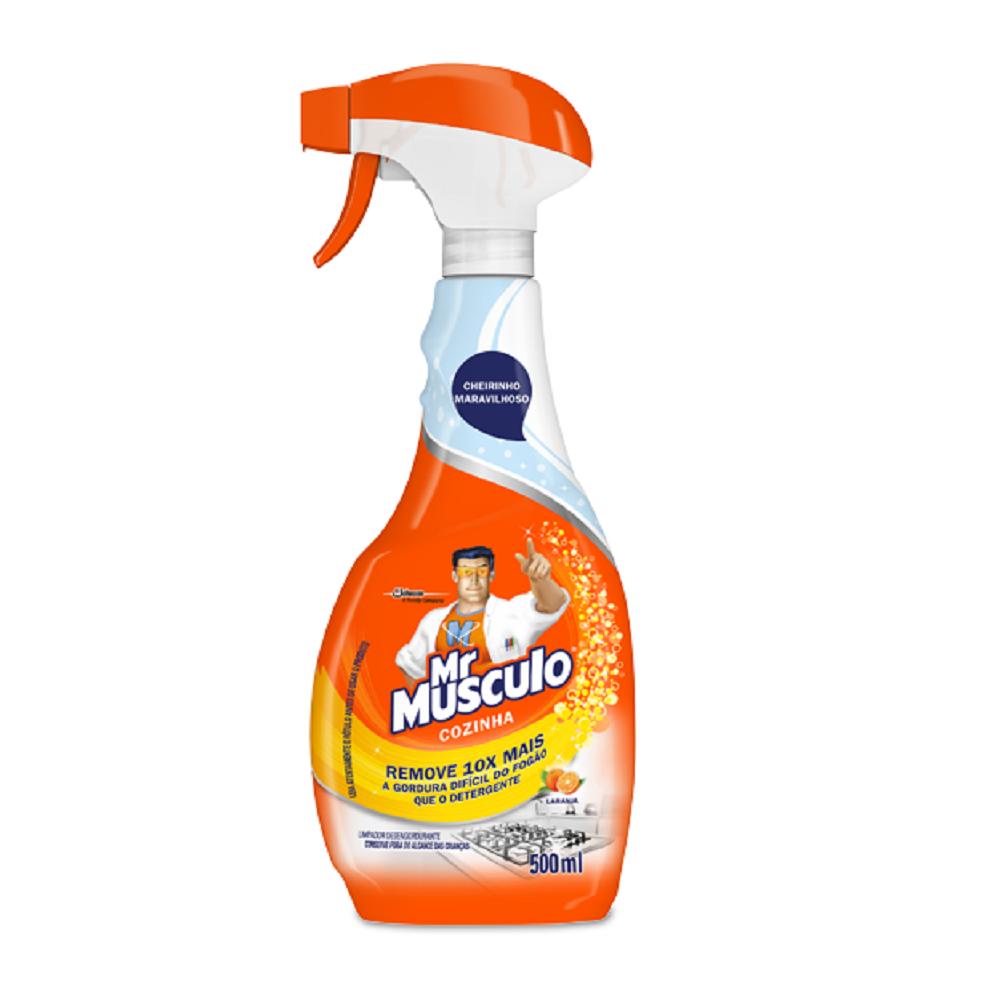 Limpador Desengordurante para Cozinha 500ml Laranja Spray 1 UN Mr Músculo