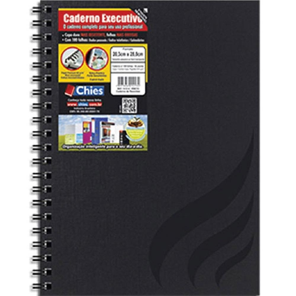 Caderno Executivo Capa Dura 100 FL Wire-O 1 UN Chies