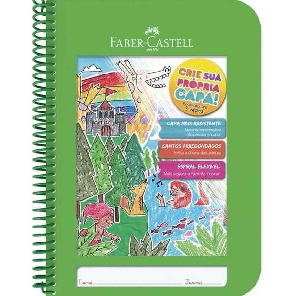 Caderno Pedagógico Criativo Capa Plástica 96 FL Verde 1 UN Faber Castell