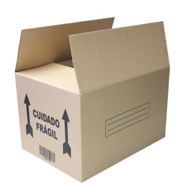 Caixa de Papelão para Transporte e Mudança 55x40x35cm 1 UN Frugis