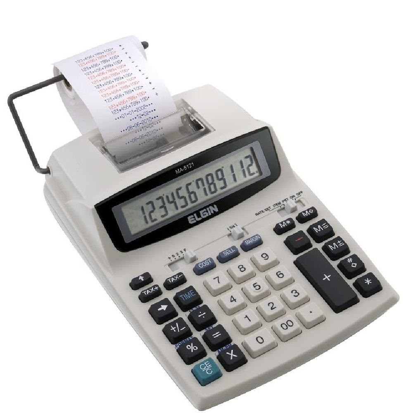Calculadora de Mesa com Bobina 12 Dígitos MA5121 1 UN Elgin