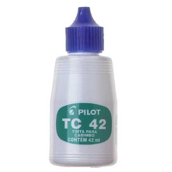 Tinta para Carimbo Azul 42ml 1 UN Pilot
