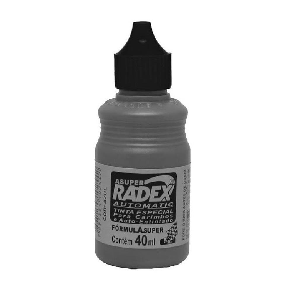 Tinta para Carimbo Auto Entintado Preto 40ml 1 UN Radex