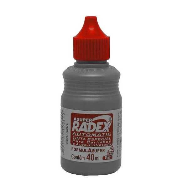 Tinta para Carimbo Auto Entintado Vermelho 40ml 1 UN Radex