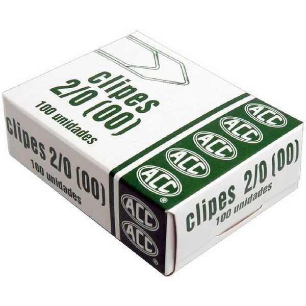 Clips Nº2/0 Galvanizado CX 100 UN ACC