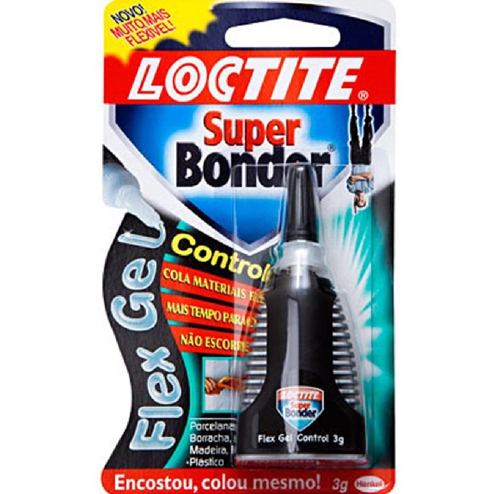 Cola Super Bonder Flex Gel Control Loctite 3g 1 UN Henkel