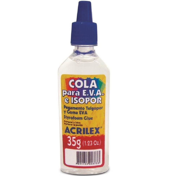 Cola Líquida EVA e Isopor Transparente 35g 1 UN Acrilex