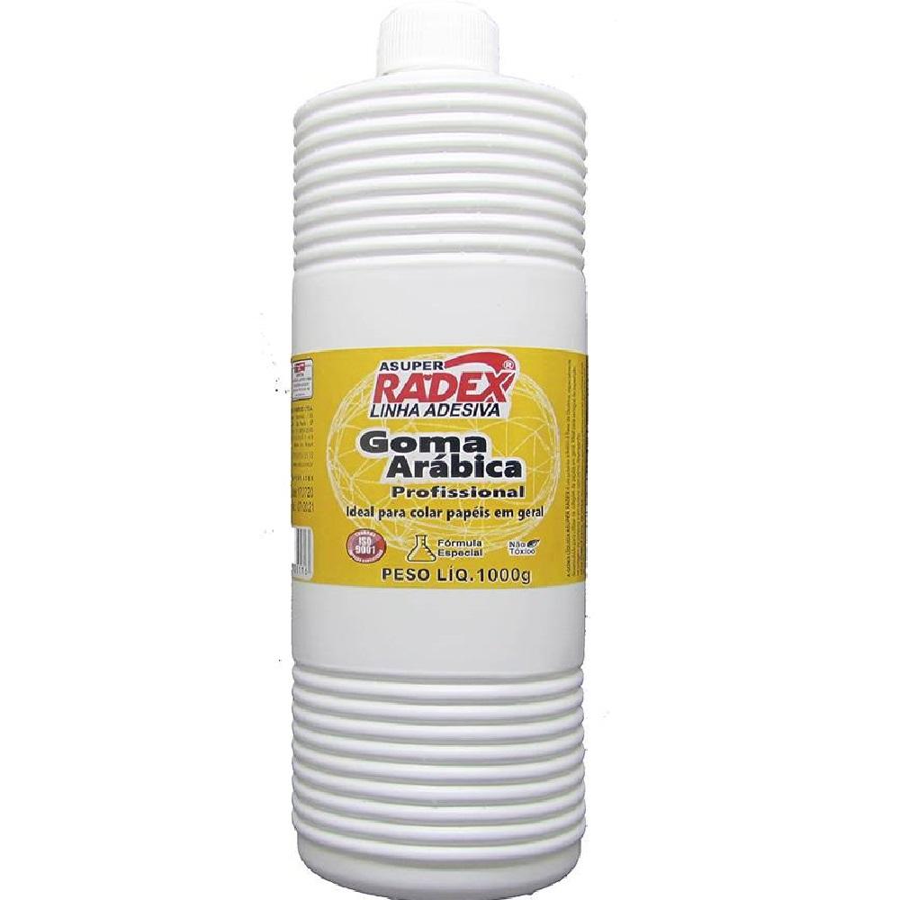 Cola Líquida Goma Arábica Branca 1kg 1 UN Radex