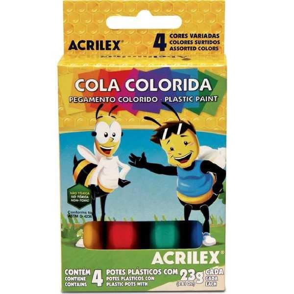 Cola Colorida 4 Cores 23g Cada 4 UN Acrilex