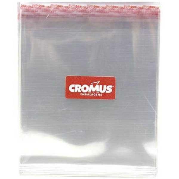 Saco Adesivo Transparente 12x18cm Aba 3cm 051721 PT 100 UN Cromus