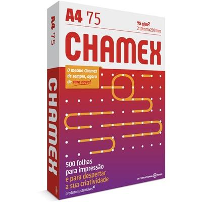 Papel Chamex A4 Sulfite 75g Resma de 500 Folhas