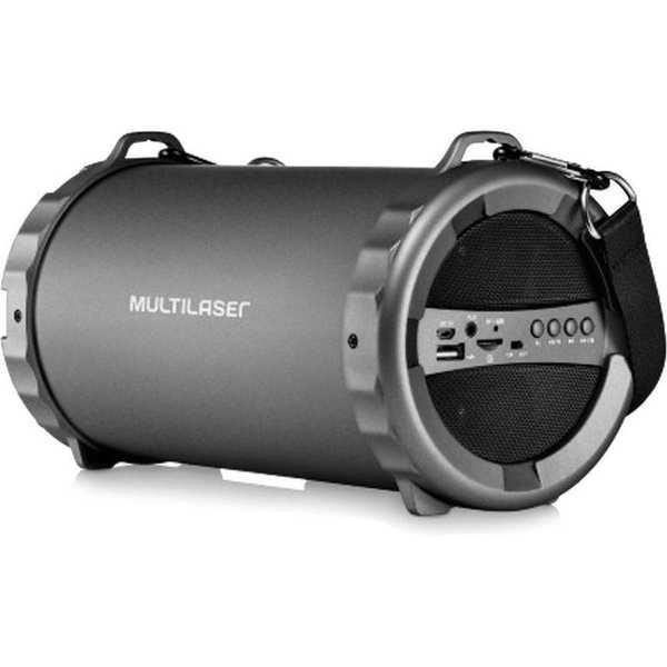 Caixa de Som Bazooka com Bluetooth FM USB P2 20W Preto SP233 1 UN Multilaser