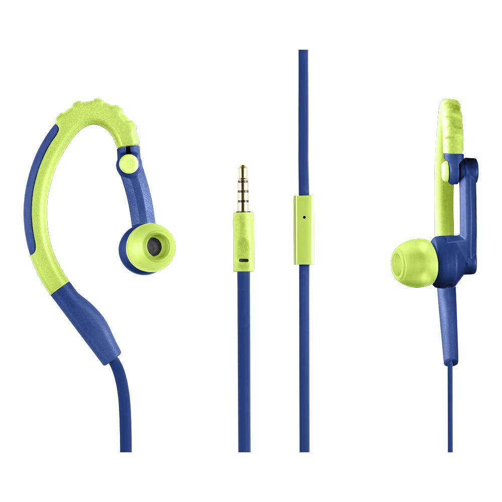 Fone de Ouvido Earhook Sport Stereo Áudio Microfone Verde PH207 1 UN Pulse