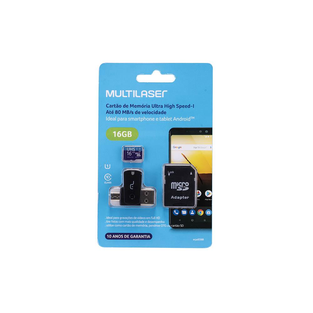 Cartão de Memória Ultra High Speed-I 16GB MC150 1 UN Multilaser