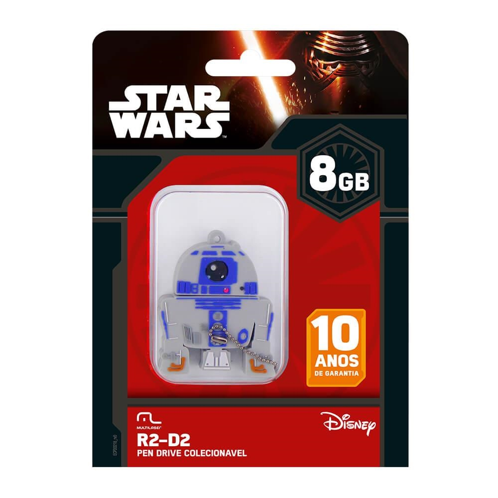 Pen Drive Star Wars 8GB PD036 1 UN Multilaser