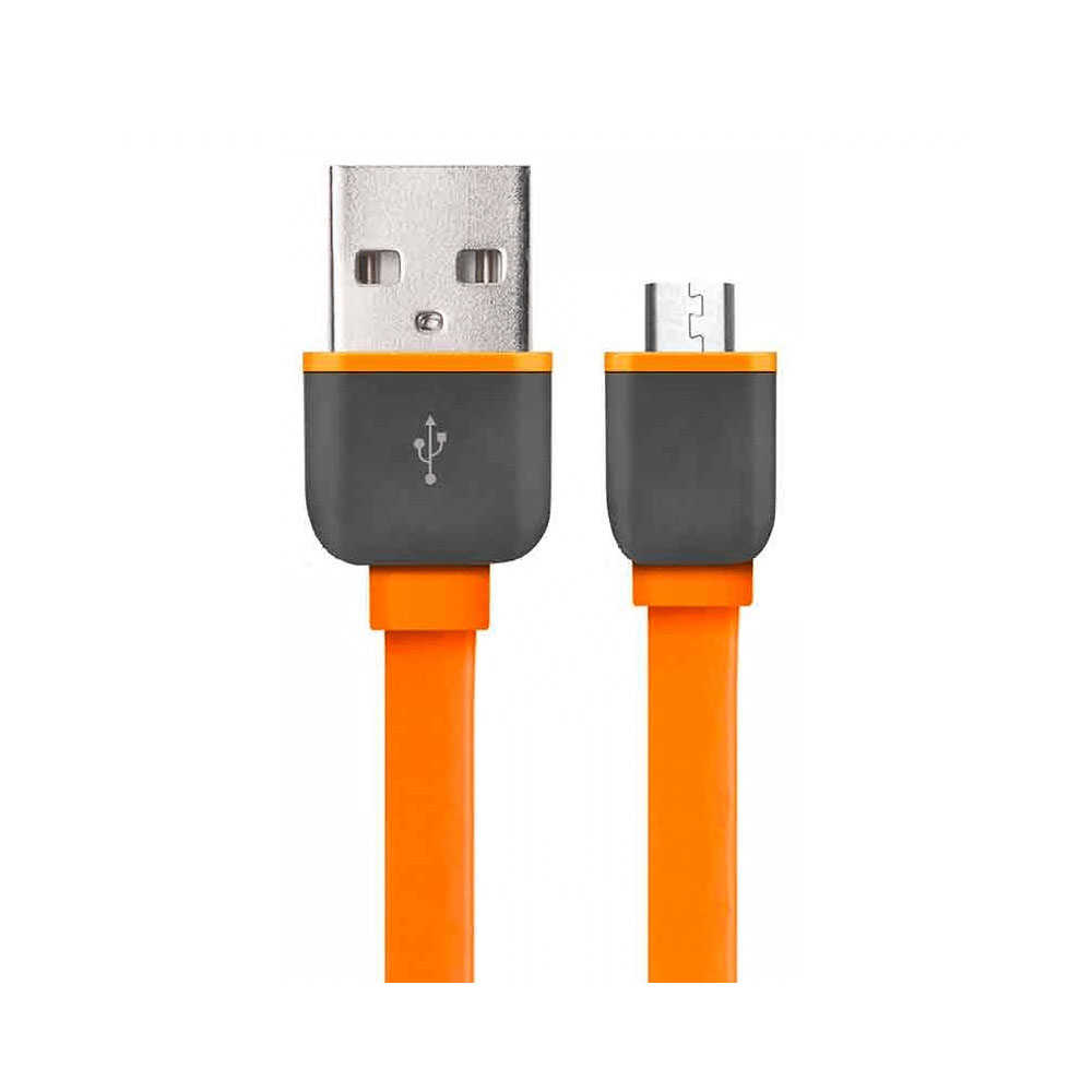Cabo Micro USB Smartogo 1m Laranja WI298L 1 UN Multilaser