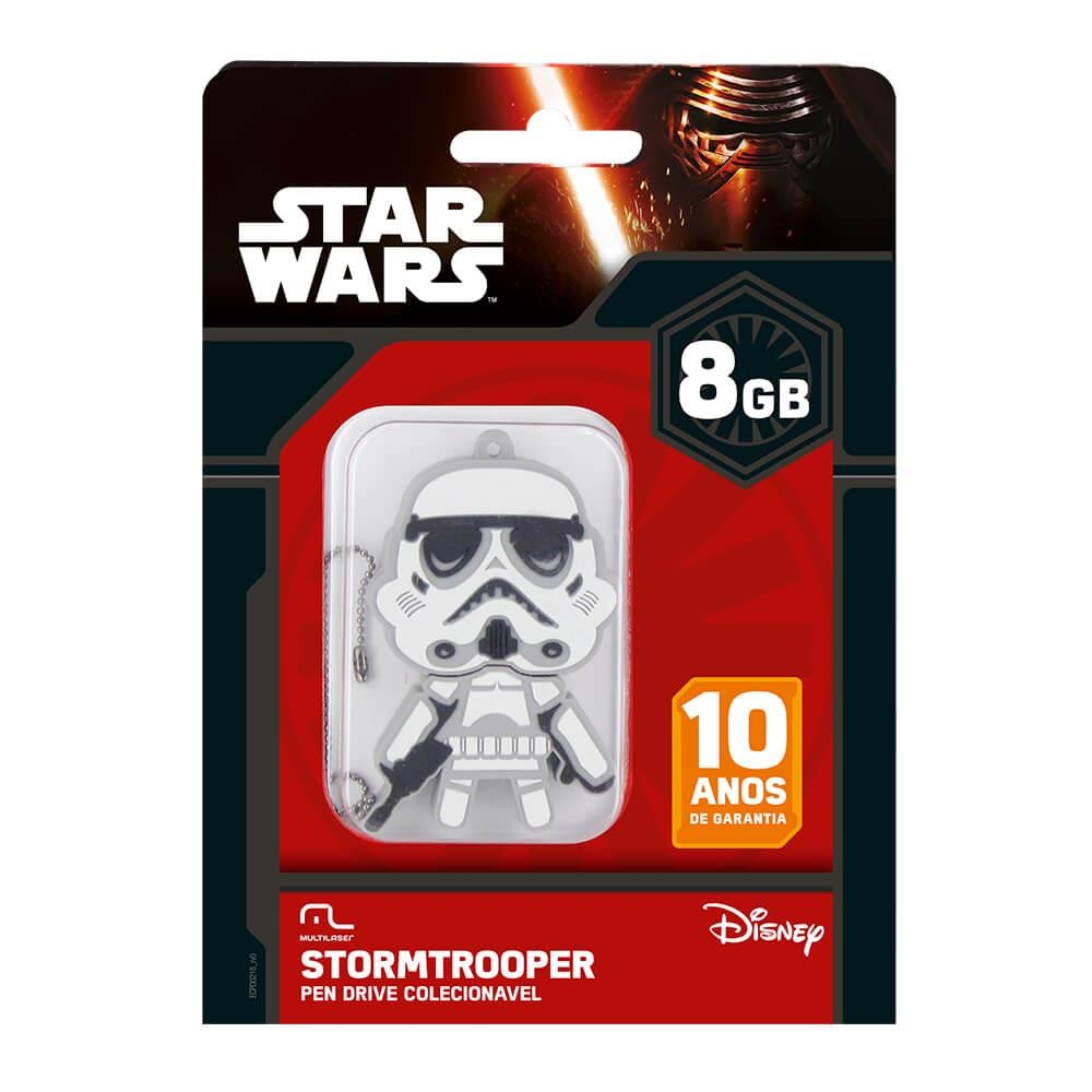 Pen Drive Star Wars Stormtroope 8GB PD039 1 UN Multilaser