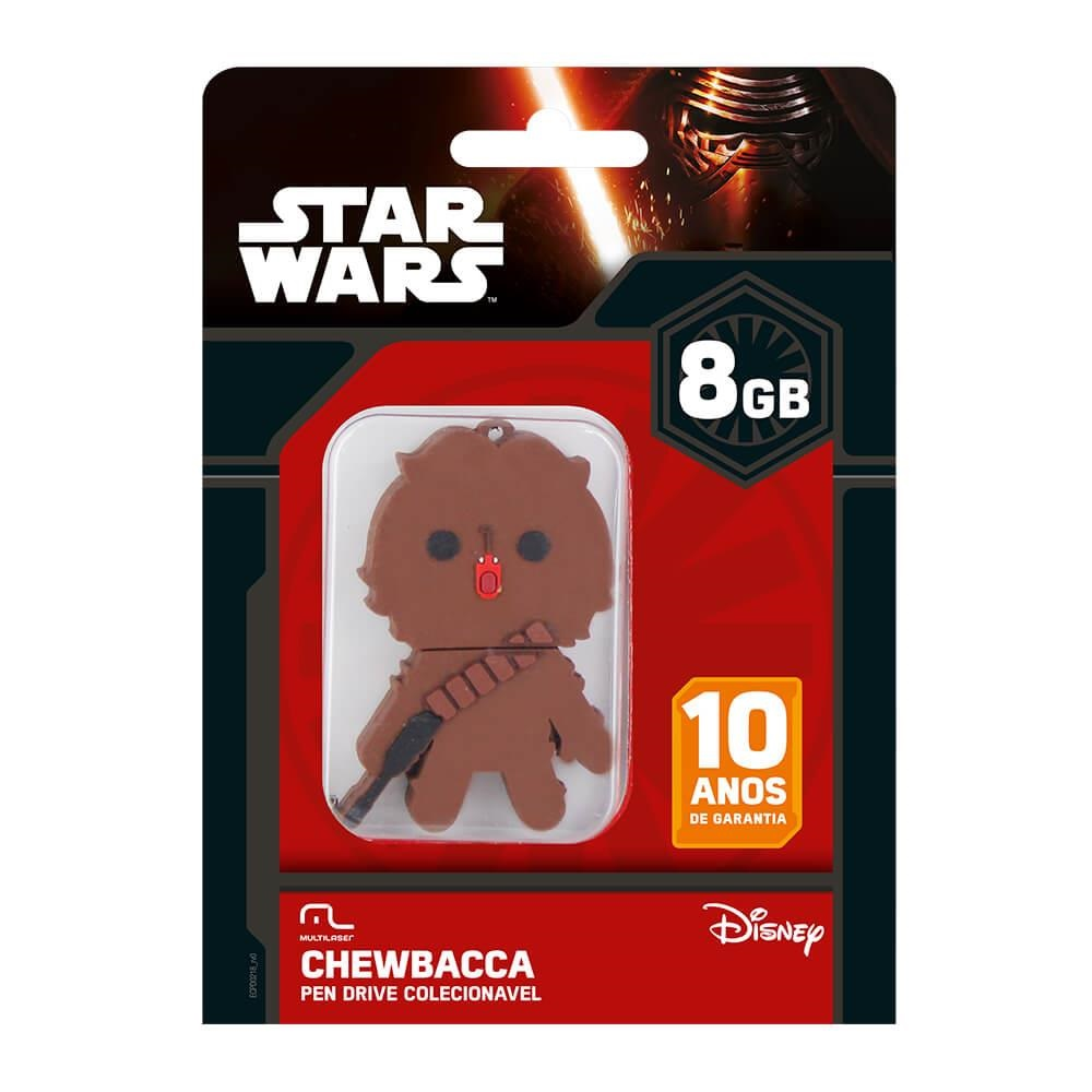 Pen Drive Star Wars Chewbacca 8GB PD041 1 UN Multilaser