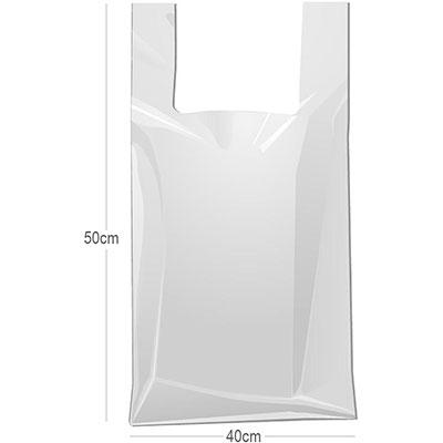 Sacola Plástica Branco 40x50cm PT 500 UN Polyflex