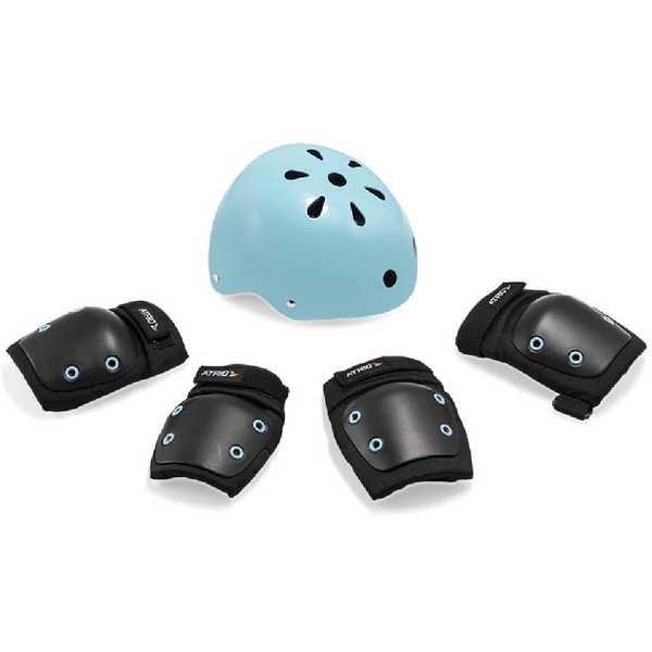 Kit de Proteção Infantil G Preto e Azul ES183 1 UN Atrio