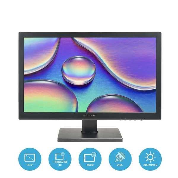 Desktop Linux com Monitor 18.5