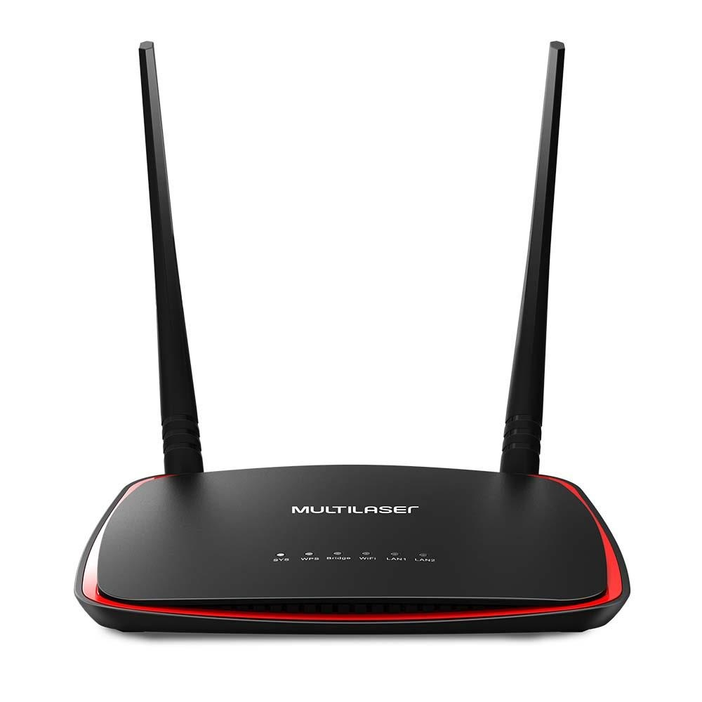 Access Point Roteador 300Mbps 2 Antenas Preto RE011 1 UN Multilaser