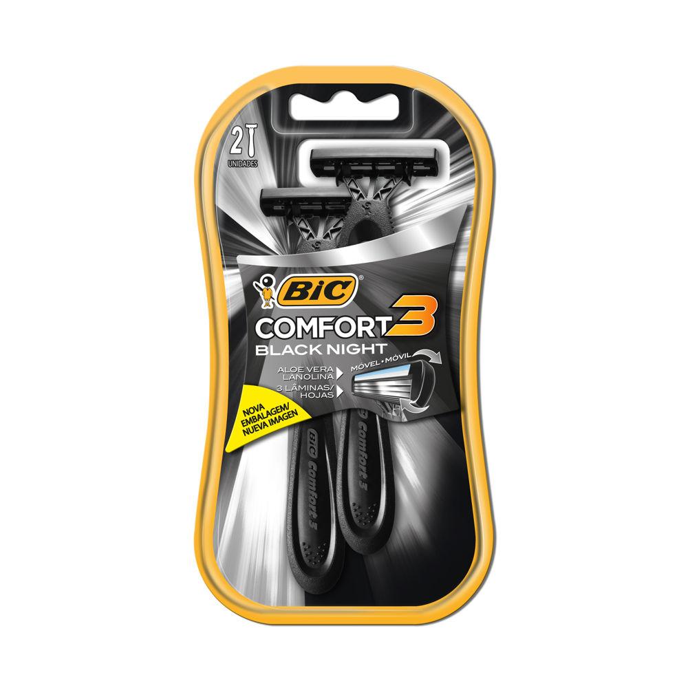 Aparelho de Barbear Confort 3 Black 2 UN Bic