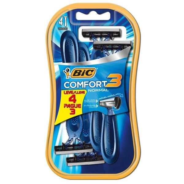 Aparelho de Barbear Confort 3 Normal Leve 4 Pague 3 Bic