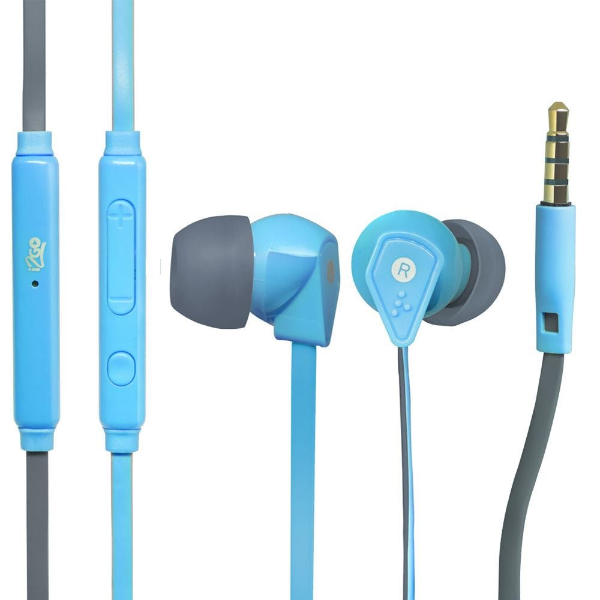 Fone de Ouvido Flat com Microfone Azul 1 UN i2GO