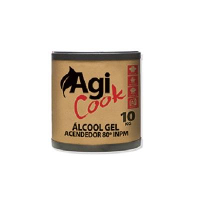 Álcool em Gel Acendedor Agicook 10kg 1 UN Agifácil