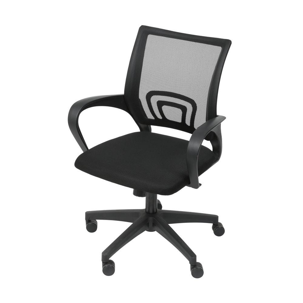 Cadeira de Escritório com Rodízio Preto 1 UN OR Design