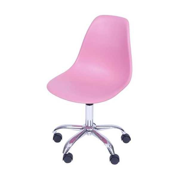 Cadeira Eames com Rodízio Rosa 1 UN OR Design