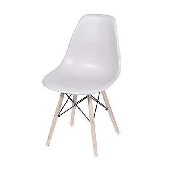 Cadeira Eames com Base de Madeira Branca Fendi 1 UN OR Design