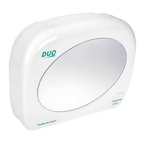 Dispenser Duo Saboneteira e Toalha com Espelho 800ml 1 UN Biovis