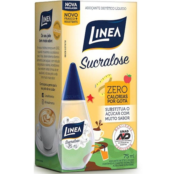Adoçante Líquido Sucralose 75ml 1 UN Linea