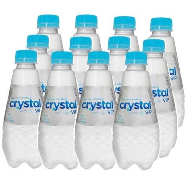 Água Mineral Vip sem Gás 350ml PT 12 UN Crystal