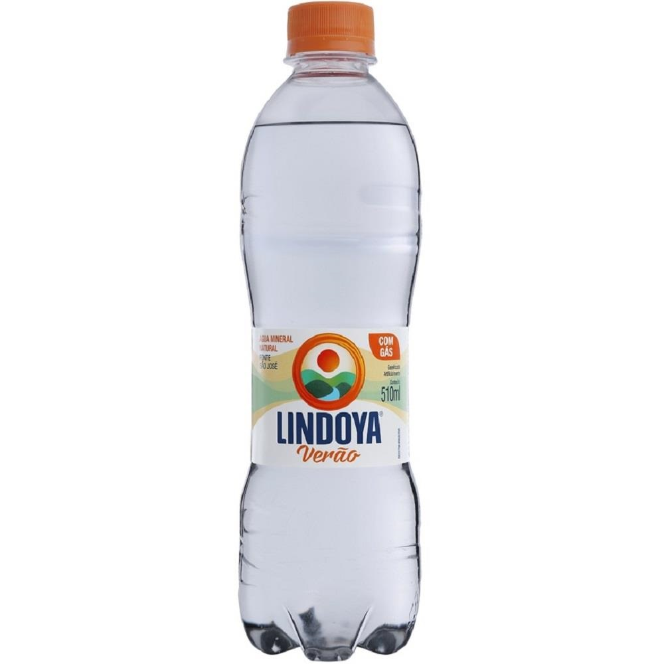 Água Mineral Verão com Gás 510ml 1 UN Lindoya