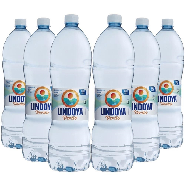 Água Mineral Verão sem Gás 1,5L PT 6 UN Lindoya