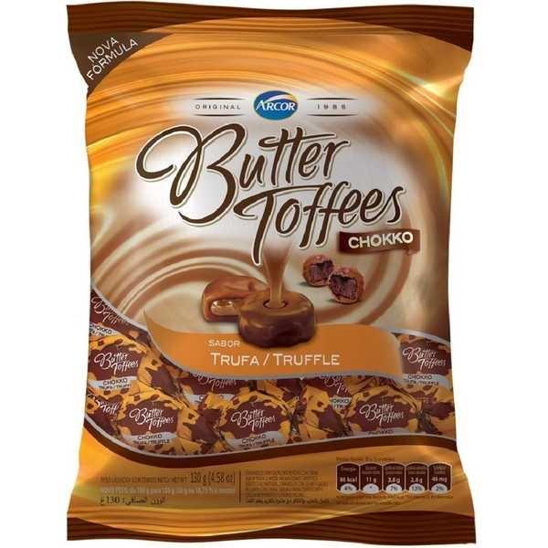 Bala Butter Toffees Chokko Trufa 100g 1 Pacote Arcor