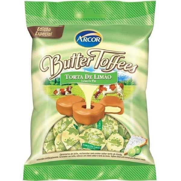 Bala Butter Toffees Torta de Limão 100g 1 UN Arcor